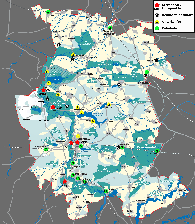 Lichtverschmutzung Karte 2019.Der Sternenpark Westhavelland Sternenpark Westhavelland